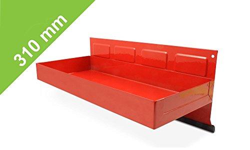 Magnetische Hängebox in Rot - 310mm für Küche, Garage, Gartenhaus oder Werkstatt