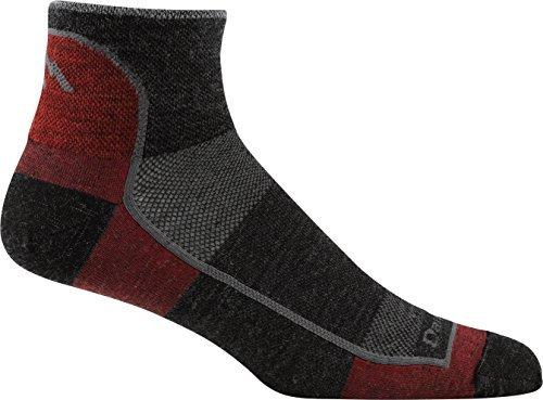 Darn Tough Vermont Men's 1/4 Light Athletic Socks ( Style 1715 ), Team Dtv, Large