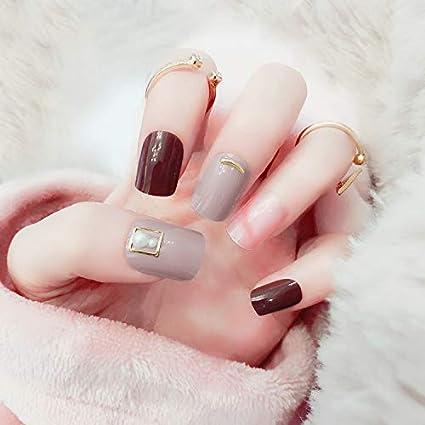 False Nails 24 uñas postizas para decoración de uñas, cabeza ...