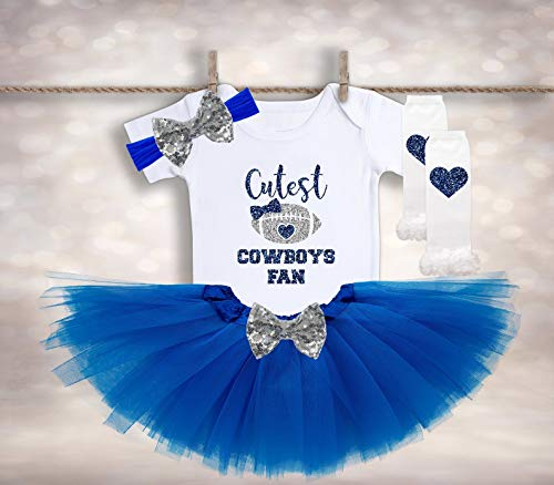 Girls Football Outfits (Dallas Cowboys Baby - Baby Girl Football Outfit - Tutus and Touchdowns - Football Season Shirt - Coming Home Outfit - Toddler)