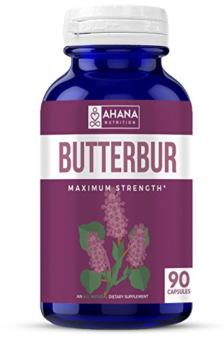 Ahana Nutrition Butterbur Capsules (PA-Free) – Natural Supplement for Headache and Migraine Relief, Supports Inflammation and The Immune System (50mg – 90ct) ()