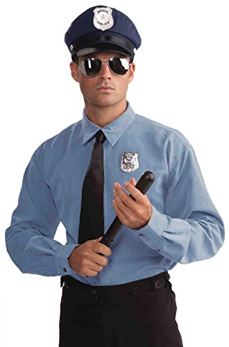 Cop Costume Male (Forum Novelties Police Officer Costume Accessory Kit, Black, One Size)