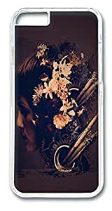 VUTTOO Abstract Grunge Flower Head Polycarbonate Hard Case Cover for iphone 6 plus 5.5inch Transparent
