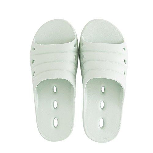 FankouZapatillas de verano femenino baño interior fugas expuesta una espuma ligera y simple base fast dry cool zapatillas y desodorización ,39-40, zapatos de agua verde