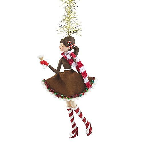 Department 56 Holiday Spirits Phoebe Peppermint Martini Ornament, 5.25 (Martini Ornaments)