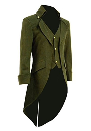 54039ab84a0e Very Last Shop Mens Gothic Tailcoat Jacket Black Steampunk Victorian Long  Coat Halloween Costume