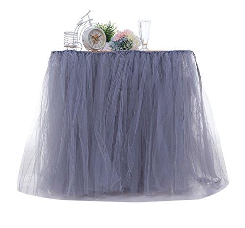 Tutu LaoZan de Jupe Dcoration Mariage Fte Dcorations Fte en Table de Table Tulle Gris pour d'anniversaire xAArt