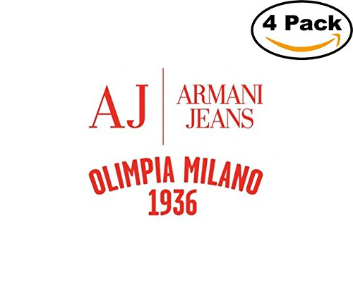 fan products of Basketball Olimpia Milano Logo1 4 Stickers 4X4 Inches Car Bumper Window Sticker Decal