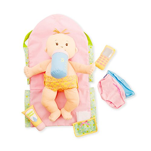 "Manhattan Toy Baby Stella Darling Baby Doll Diaper Bag and Accessories for 15"" Dolls"
