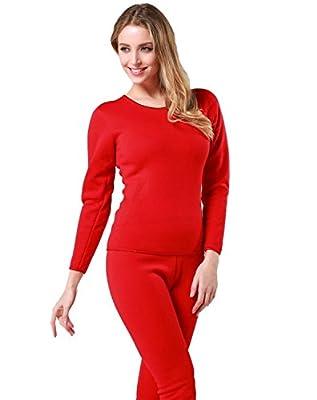 Women's Ultra-Soft Fleece Lined Thermal Base Layer Top & Bottom Underwear Set