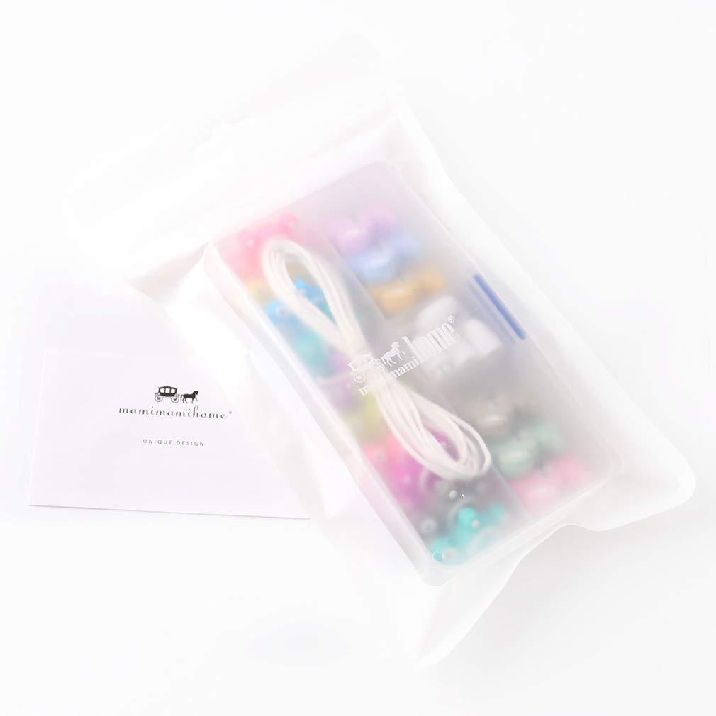 Mamimami Home Baby Silikonperlen Kinderkrankheiten Set Waschb/är Tier Perlen DIY Pflege Halskette Breakaway Verschluss Baby Spielzeug