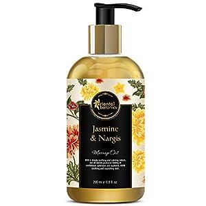 Oriental Botanics Jasmine and Nargis Body Massage Oil (200ml, ORBOT11)