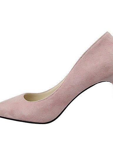 GGX/Damen Spikes Absätzen massiv Pull auf Frosted Spitz geschlossen Zehen pumps-shoes gray-us5.5 / eu36 / uk3.5 / cn35