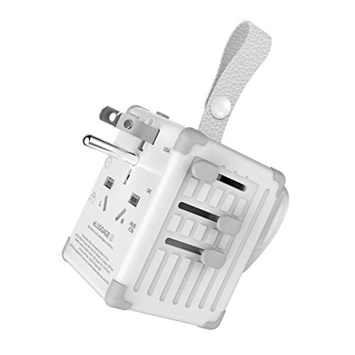 - Zikko Compact International Travel Adapter, 4 in 1 Universal Power Adapter, 2500W Worldwide 5A 4 USB Charger with Type G for US, EU, UK, AUS, UAE, CHN, JP Over 150 Countries