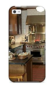 Anti-scratch And Shatterproof Kitchen With Contrasting White Subway Tile And Dark Wood Tones Phone Case For Iphone 5c/ High Quality Tpu Case