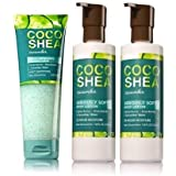 Bath and Body Works COCO SHEA CUCUMBER GIFT SET 1 Foaming Body Scrub and 2 Seriously Soft Body Lotion. Full Size