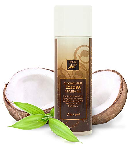 Cojoba Styling Gel | Good for Curly Hair, Frizz Control, Roller Setting, Twist Outs, Braid Outs | Moisturizes & Conditions Hair with Each Use | Alcohol-Free Hair Gel | Made by FAR Botanicals