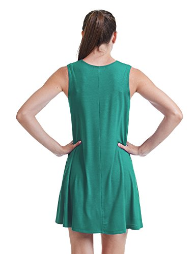 Womens Round Made USA in Together jade CTC Dress Come Trapeze California Sleeveless Wdr929 Neck BZtznfIWP