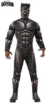 DISBACANAL Disfraz Black Panther Deluxe Adulto - -, XL: Amazon ...