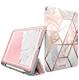 New iPad 9.7 Case 2018 2017 - [Built-in Screen Protector] i-Blason [Cosmo] Full-Body Trifold Stand Protective Case Cover with Auto Sleep Wake & Apple Pencil Holder for Apple iPad 9.7 Inch (Marble)