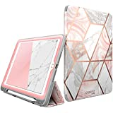 New iPad 9.7 Case 2018/2017, [Built-in Screen Protector] i-Blason [Cosmo] Full-Body Trifold Stand Protective Case Cover with Auto Sleep/Wake & Apple Pencil Holder for Apple iPad 9.7 Inch (Marble)