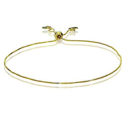 Bria Lou 14k Yellow Gold .6mm Italian Box Adjustable Chain Bracelet, 7-9 Inches by Bria Lou