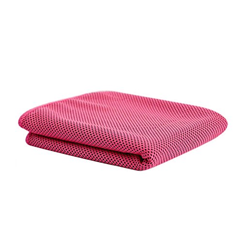 Instant Relief Cooling Towel, FanTEK Extra Large Size Sports Outdoor Exercise Workout Running Hiking Camping Yoga Towel-Hot Pink