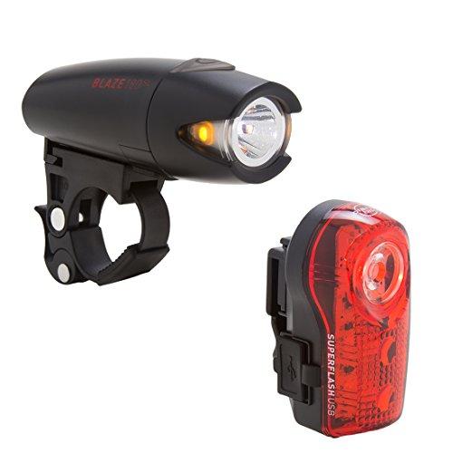 (Planet Bike Blaze 180 SL & Superflash USB bike light set)