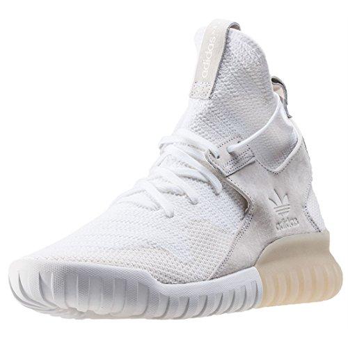 X Tubular Uomo White Sneaker Primeknit Adidas TtqwSEpE
