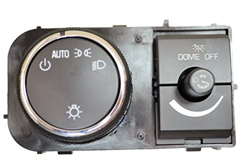 Dimmer Package - PT Auto Warehouse HLS-8827 - Headlight, Instrument Panel Dimmer Switch, Chrome Trim - without Fog Lights, with Comfort & Convenience Package