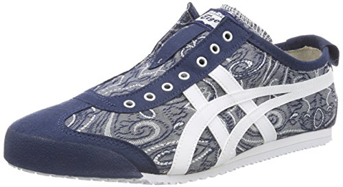Asics Damen Onitsuka Tiger Messico 66 Slip-on Sneaker Blau (blu Scuro / Bianco 4901)