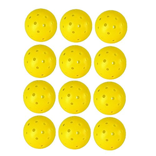 Approved 40 Hole Yellow Outdoor Pickleballs - 12
