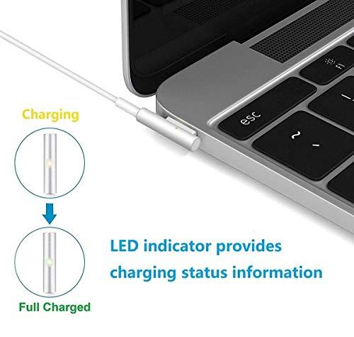 AndMore Cargador Compatible con MacBook Pro, Cargador MacBook 60W MagSafe 1 Forma de L Adaptador de Corriente (para MacBooks Macbook Pro 11