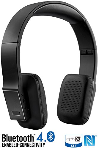 Bluetooth Headphones, Alpatronix HX110 Universal HD Noise Reduction Wireless Stereo Headset w/ Built-in Mic, NFC, aptX, Bluetooth 4.0 for Smartphones & Computers [20+ Hrs. Playback Time] – (Black)