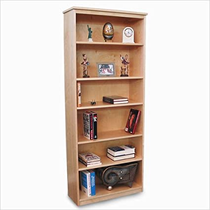 Delicieux Gothic Cabinet Craft Unfinished Wood Bookcase With Five Adjustable Shelves