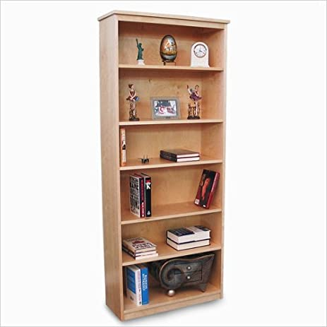 Gothic Cabinet Craft Unfinished Wood Bookcase With Five Adjustable Shelves