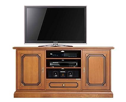 Mobile porta tv legno tinta ciliegio, arredo per salotto o soggiorno ...