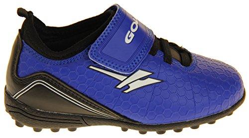 Footwear Studio - Botas de fútbol para niño negro negro Blue, Black & White
