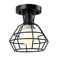 Create for Life Retro Vintage Industrial Mini Painting Metal Rustic Flush Mount Ceiling Light Pendant Light for Hallway