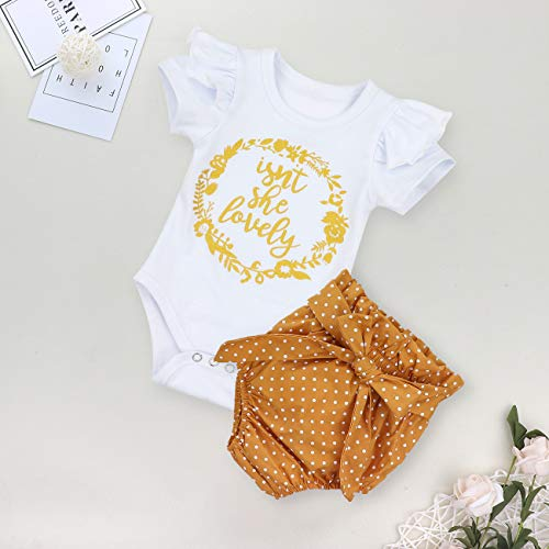 Newborn Baby Girl Clothes Flare Sleeve Romper + Floral Short Pants 3pcs Summer Outfit Set