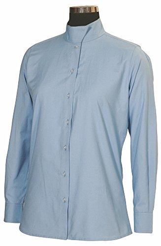 Ladies Show Shirt (TuffRider Women's Starter Long Sleeve Show Shirt, Light Blue, 40)