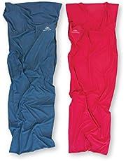 NORDKAMM Hüttenschlafsack 100% Baumwolle oder Mikrofaser, rot oder blau