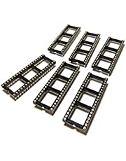 Machined DIP 2.54mm Pitch IC Socket (40 Pin Wide, 6 Pieces)