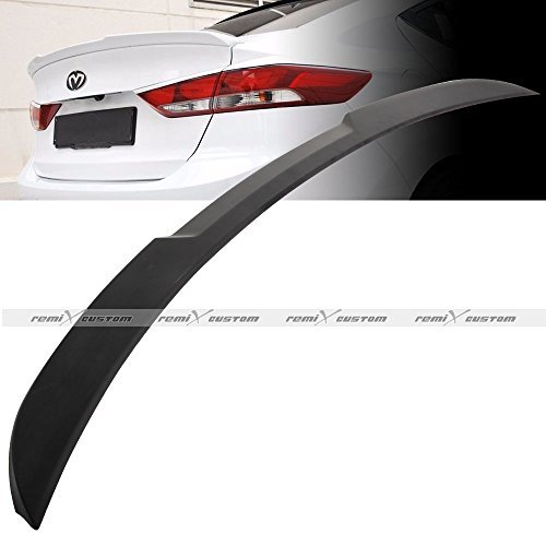 Remix Custom Trunk Spoiler for 2017 2018 2019 Hyundai Elantra ABS H-Style Rear Trunk Spoiler ()