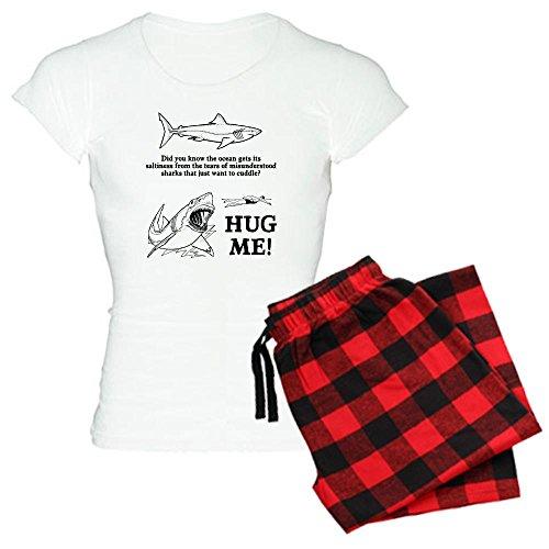 - CafePress Sharks Need Hugs Womens Novelty Cotton Pajama Set, Comfortable PJ Sleepwear