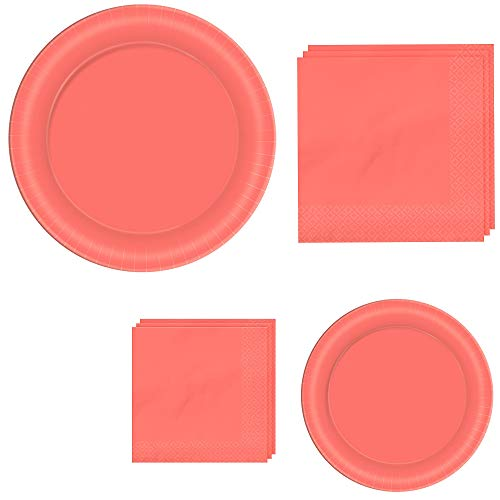 Amscan Pantone Living Coral Tableware Kit for 40 Guests ()