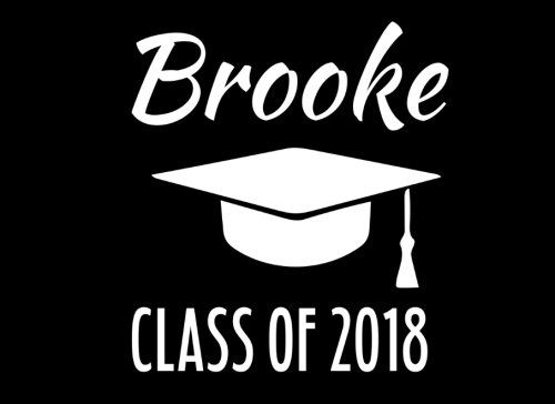 (Brooke Class Of 2018: Graduation Cap Guest Book For Party, Personalized Gift. Graduate Advice or Autograph Book Unlined. (Tassel)