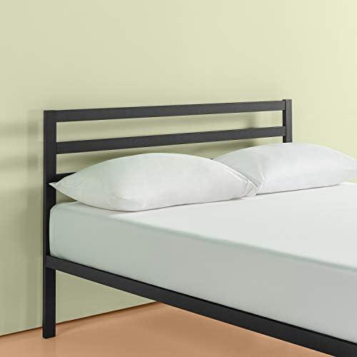 Zinus Mia Modern Studio 14 Inch Platform 1500H Metal Bed Frame With Headboard, Queen 41gpDlD29rL