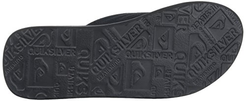 Quiksilver Molokai Layback M Sndl, Sandalias con Plataforma Plana para Hombre Negro (Black /         Black /         Red)