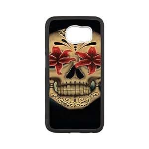 WJHSSB Skull Art 5 Phone Case For Samsung Galaxy S6 G9200 [Pattern-5]